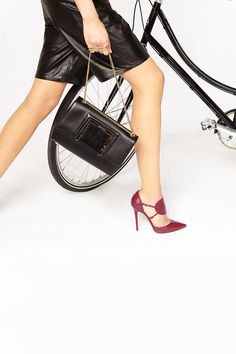 Hot stepping in these Jimmy Choo Strappy Leather Pumps!