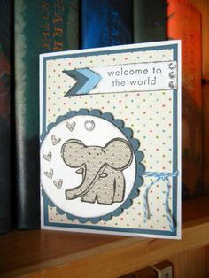 New Baby Boy Card  Welcome to the World  by TweetandHootPaper, $2.75