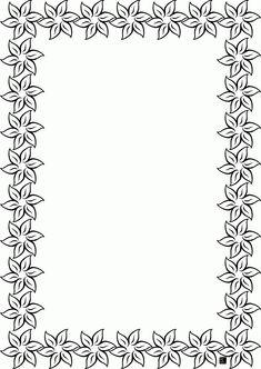 Cornicette E Bordi   Maestra Mary Migliore 30 Sfoglia Cornici Da Stampare E Colorare Floral Wreath Printable, Flower Border Clipart, Hand Embroidery Patterns Free, Doodle Borders, Parchment Craft, Borders And Frames, Flower Template, Binder Covers, Color Pencil Art