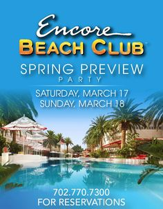 almost encroaches on SXSW.  Does overlap Giants Spring Training.     Its the EBC. NO, not East Bank Club. Encore Beach Club.    $30.00 http://encorebeachclub.wantickets.com/    DISCLOSURE: I am getting paid while I am at this.