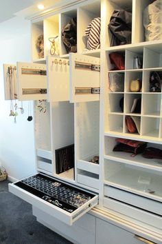 Jewelry, necklace, purse, handbag, clutches, storage cabinet, California Closets
