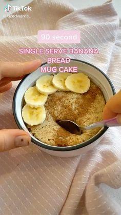 Mug Recipes, Fun Baking Recipes, Sweet Recipes, Snack Recipes, Dessert Recipes, Cooking Recipes, High Protein Recipes, Low Calorie Recipes, Healthy Baking