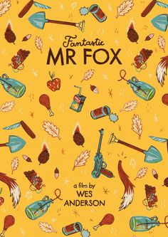 Movie Poster Movement — Fantastic Mr. Fox by Andres Lozano