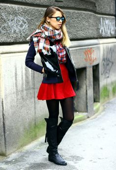 Karirani šal za tople i udobne modne kombinacije