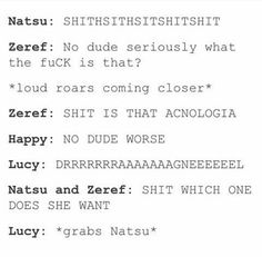 pfft.. I bet there faces where priceless Lucy, scarier than acnologia.