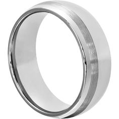Swank brushed inlay wedding bands are Tungsten rings that can be made to order featuring a silver inlay or a gold inlay. The Swank tungsten rings in stock are made with brushed inlay and can be customized with silver inlays or gold inlays. Inlay wedding bands can be customized to suit your individual needs.