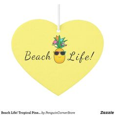 Tropical Pineapple with Shades Air Freshener created by PenguinCornerStore.