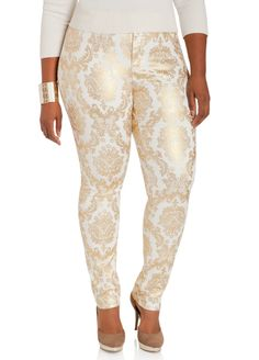 c78506cec3845 Baroque Skinny Denim Pants - Ashley Stewart Plus Size Jeans