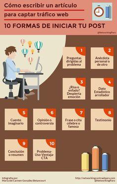 awesome 10 formas de comenzar un post para tu Blog #infografia #infographic #socialmedia