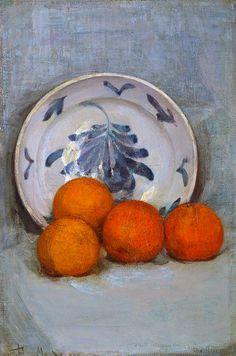 dappledwithshadow:  Piet MondrianStill Life with Oranges1899