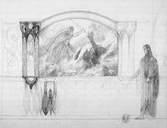 Sketch of Isildur Painting - Alan Lee