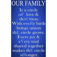 FAM{ILY} IS FOREVER…