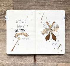 Some Harry Potter inspiration for the most magical bullet journals! : Some Harry Potter inspiration for the most magical bullet journals! , Bullet Harry Inspiration Journals magical Potter stabilonl Some Harry Potter Bullet Journal August, Bullet Journal Cover Page, Bullet Journal Notebook, Bullet Journal Themes, Bullet Journal Layout, Bullet Journal Inspiration, Bullet Journals, Journal Pages, Journal Ideas