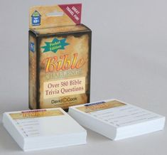 Bible trivia on the go! Answer 580 on-the-spot questions about Old and New Testament characters, biblical places, important events in God's Word, and more. Pocket Bible, Challenge Games, Pocket Edition, Old And New Testament, Trivia Questions, Challenges, Words, Bible Trivia, Gift Registry