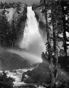 Ansel Adams Nevada Fall, Rainbow, Yosemite Valley c. 1947 ©The Trustees of the Ansel Adams Publishing Rights Trust Black And White Beach, Black And White Landscape, Black N White Images, Ansel Adams Photography, Old Photography, Insect Photography, Colour Photography, Photography Portraits, Inspiring Photography