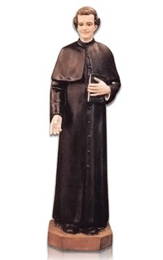 The Saint Giovanni Bosco Fiberglass Statue is made from fiberglass and purred into a solid form. Once the statue has hardened they are hand painted. The statue is made for indoor and outdoors. They are made in Italy by some of the finest fiberglass experts in the World. The color finish is wonderful and has a magnificent shine.
