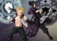 Sting Eucliffe and Rogue Cheney. The Twin Dragons | FairyTail.