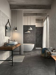Greater Toronto Area, Other Rooms, Modern Room, Porcelain Tile, Bathtub, Living Room, Bathroom, Tuesday, Friday