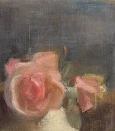 Pink Roses, Victor Pasmore. Such softness and beauty