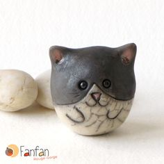 Small Ball Cat made from Raku Ceramics Petit chat boule en céramique Raku Raku Pottery, Pottery Sculpture, Pottery Art, Pottery Animals, Ceramic Animals, Clay Animals, Ceramic Fish, Ceramic Clay, Ceramics Projects