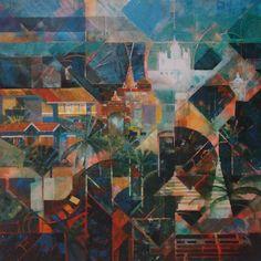 Panjim City from Altinho Hill by Judith Appleby