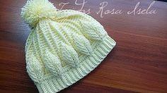 Como tejer gorro boina a Crochet o ganchillo en punto relieve - YouTube