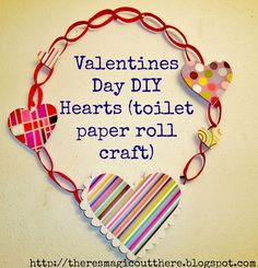 Valentines Day DIY Hearts (Recycled Toilet paper roll crafts) Wreath