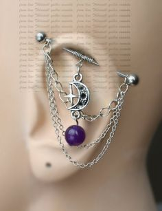 Industrial Barbell with chains Industrial piercing by triballook