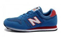 New Balance 373 Chaussures Homme Suède Bleu Blanche Rouge Noir