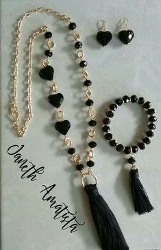 Handmade Beaded Jewelry, Tassel Jewelry, Bead Jewellery, Jewelry Sets, Jewelry Accessories, Jewelry Necklaces, Jewelry Design, Jewelry Making, Diy Schmuck