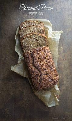 This healthy Coconut Pecan Banana Bread may be the best banana bread I've ever made!  www.tasteloveandnourish.com