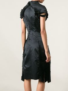 Sculptural Fashion / Comme Des Garçons Noir Kei Ninomiya black Tiered Contour Dress - Restir - Farfetch.com