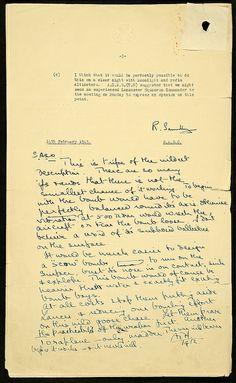 "Memo from ""Bomber"" Harris concerning bouncing bomb tests by The National Archives UK, via Flickr"