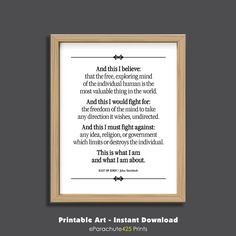 Classic literature quote printable from East of Eden by John Steinbeck in an instant downloadable file for your personal use. Great for office, dorm room, home or gift. Print it yourself, frame it and hang it. Done! Quick. Easy. Affordable. ::::: NO PHYSICAL PRINT WILL BE MAILED TO YOU This purchase is for one Instant Digital Download file that includes one 8 x 10 300 dpi JPG and one PDF file that you can print yourself. A wide border gives flexibility for enlarging or reducing. NOTE…