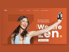 Zen - Hover interaction prototype designed by Arthur Guillermin Hazan. Banner Design Inspiration, Website Design Inspiration, Best Web Design, Free Web Design, Web Design Company, Ad Design, Website Design Layout, Layout Design, Web Mobile