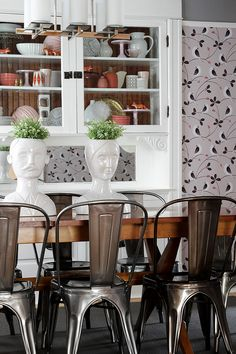 New Marais Chairs in the Dining Room #makingitlovely