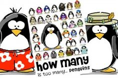 lots of penguins to love - Character by Jen Goode #penguin