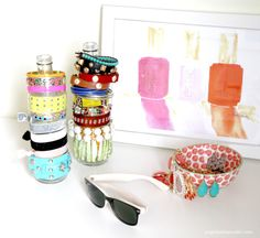 Get Organized | DIY Recycled Bottles | Bright Bold and Beautiful