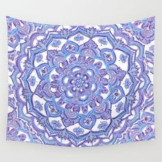 Buy Lilac Spring Mandala - floral doodle pattern in purple & white Wall Tapestry by micklyn. Worldwide shipping available at Society6.com. Just one of millions of high quality products available.