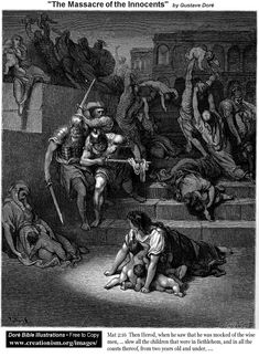 Herod's Massacre of the Innocents.  Gustave Dore.