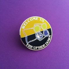Welcome To The Upside Down Stranger Things Enamel Lapel Pin Badge | hand over your fairy cakes