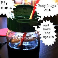 diy lid for mason jars, adult sippy cup, repurposing ideas for mason jars, parmesan cheese lids