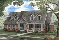 Country Style House Plans - 2624 Square Foot Home , 1 Story, 4 Bedroom and 3 Bath, 2 Garage Stalls by Monster House Plans - Plan 12-410