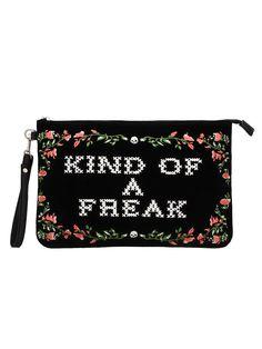 0271be2b74 Jawbreaker Kind Of Freak Velveteen Clutch Bag - Buy Online at Grindstore.com   clutchbagsonline