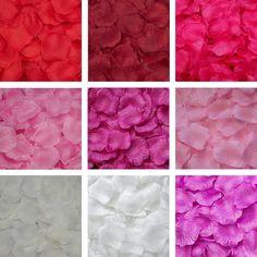 2000 Rosa Borgoña Marfil Flores//Boda//Fiesta Confetti Decoración