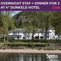 It's your time for a getaway. For just £149, enjoy an overnight stay + dinner for 2 at 4-star Dunkeld House Hotel. Full details of the deal are available at http://5pm.co.uk/?utm_campaign=coschedule&utm_source=pinterest&utm_medium=5pm.co.uk.