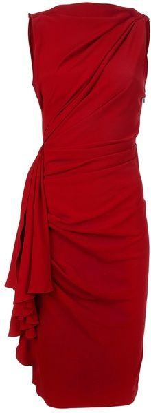 Sleeveless Red Dress ~ flattering style!