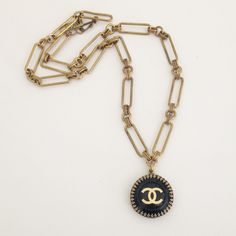 OMG ! MUST HAVE!  Authentic #Chanel Vintage Black Beauty Button as a Necklace