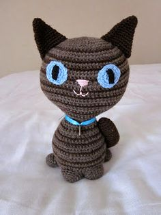 Knitting For Kids, Crochet Animals, Knit Crochet, Projects To Try, Beanie, Cats, Crocheting, Crocheted Animals, Crochet