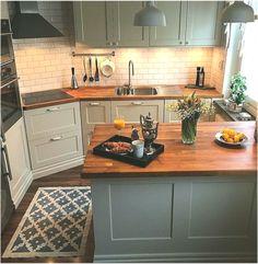 kitchen remodel 39 Magnificient Small Kitchen Design Ideas On A Budget 39 Magnificient Small Kitchen Design Ideas On A Budget Kitchen On A Budget, Kitchen Redo, Home Decor Kitchen, Kitchen Interior, New Kitchen, Home Kitchens, Kitchen Cabinets, Gray Cabinets, Design Kitchen